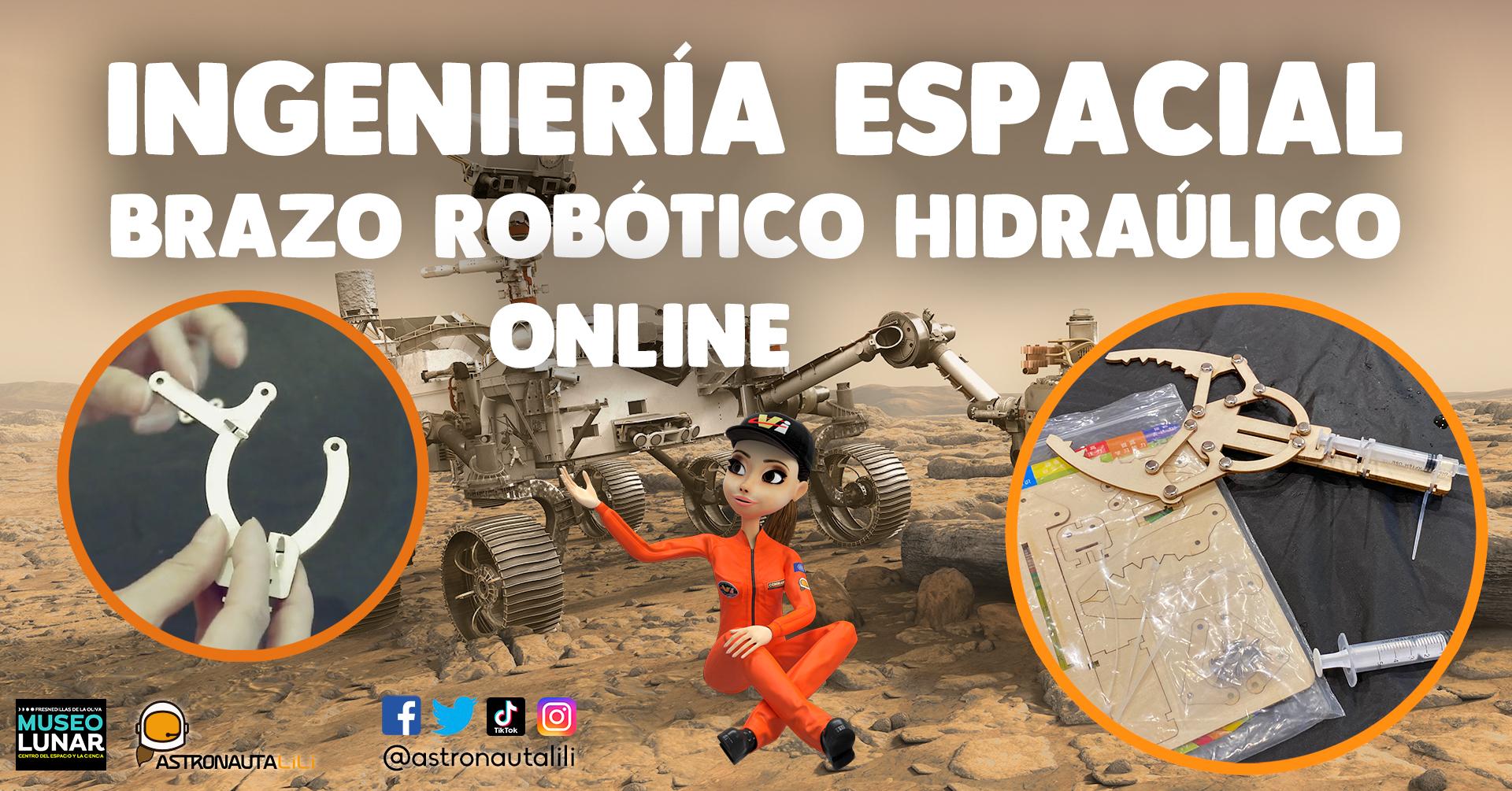 Astronauta_LiLi_en_el_Museo_LunarIngeniería espacial: Brazo robótico hidráulico
